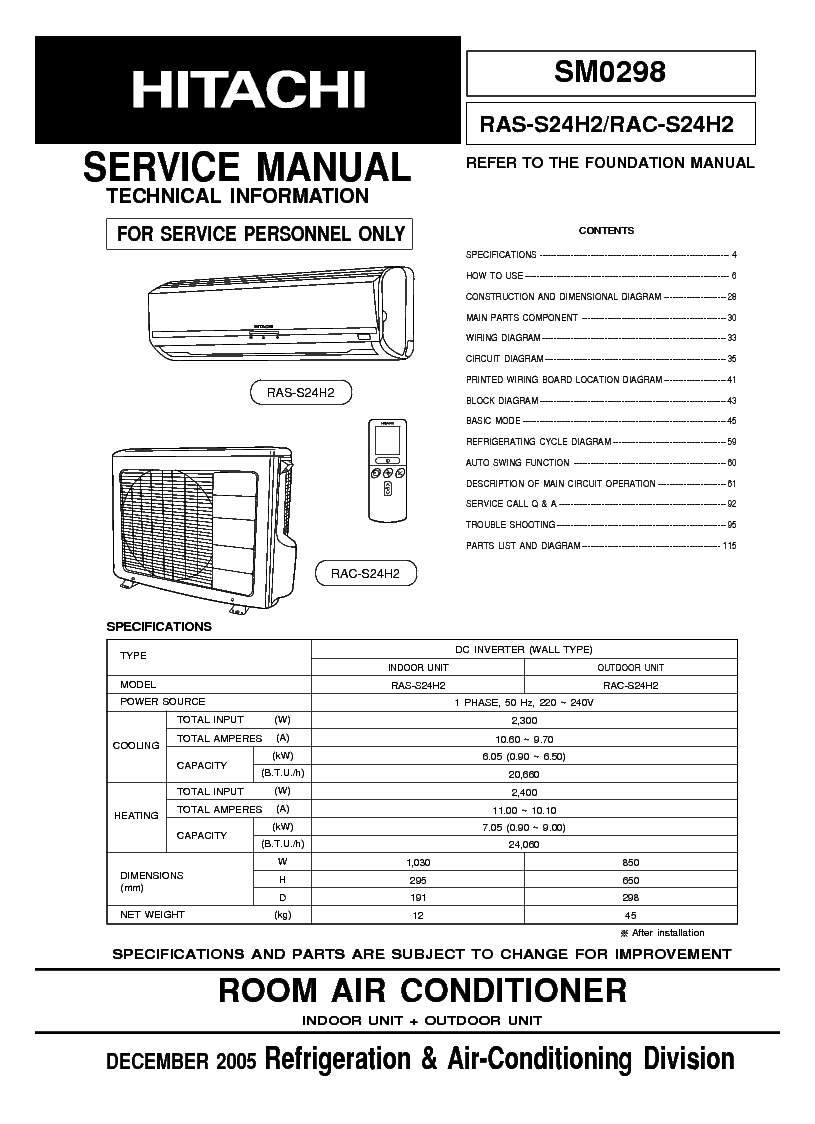 medium resolution of hitachi air conditioning wiring diagram