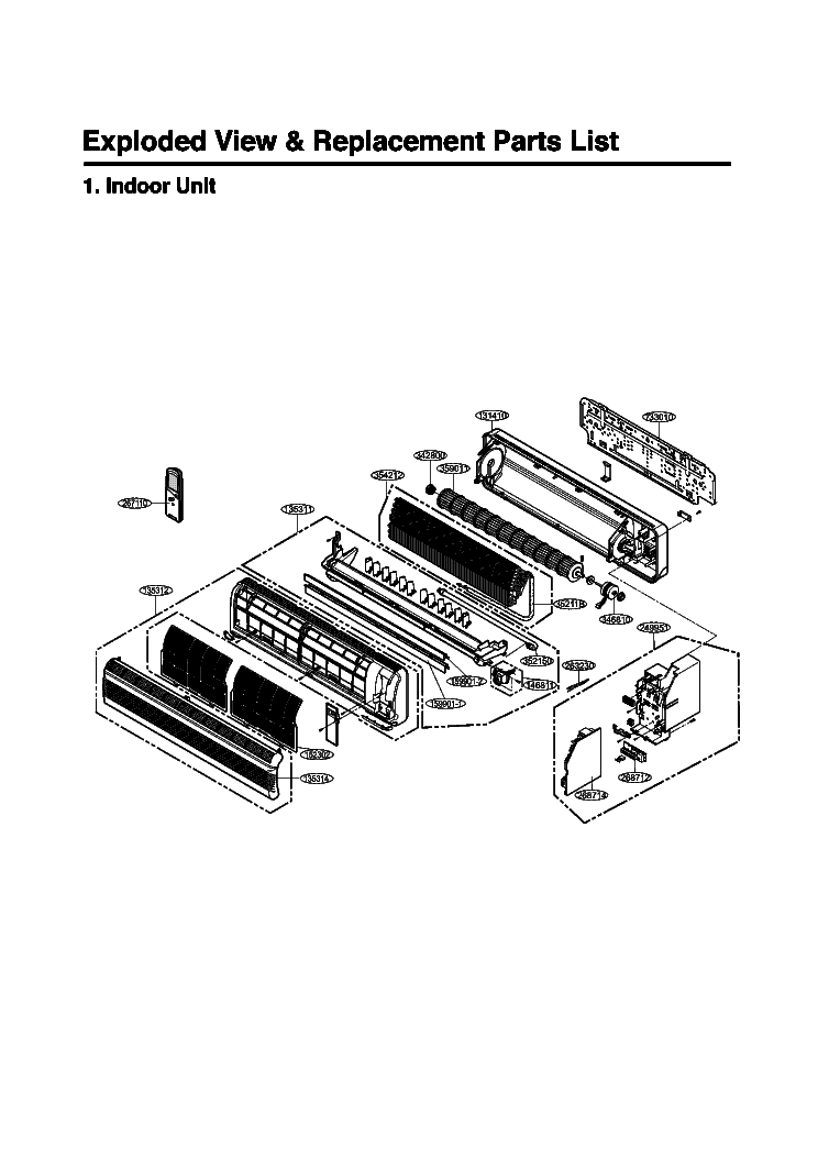 LG LS D2462HS EXPLODED VIEW Service Manual download