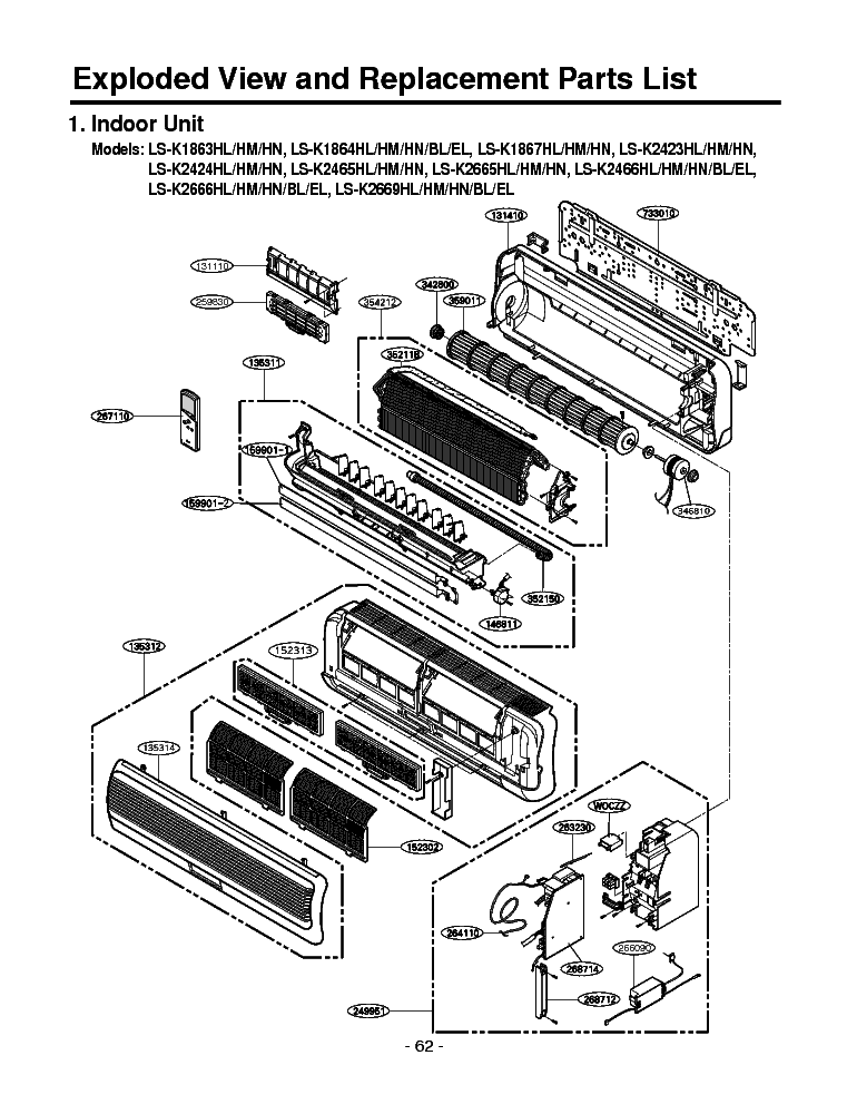 LG LSK243H 1 EXPLODED VIEW Service Manual download
