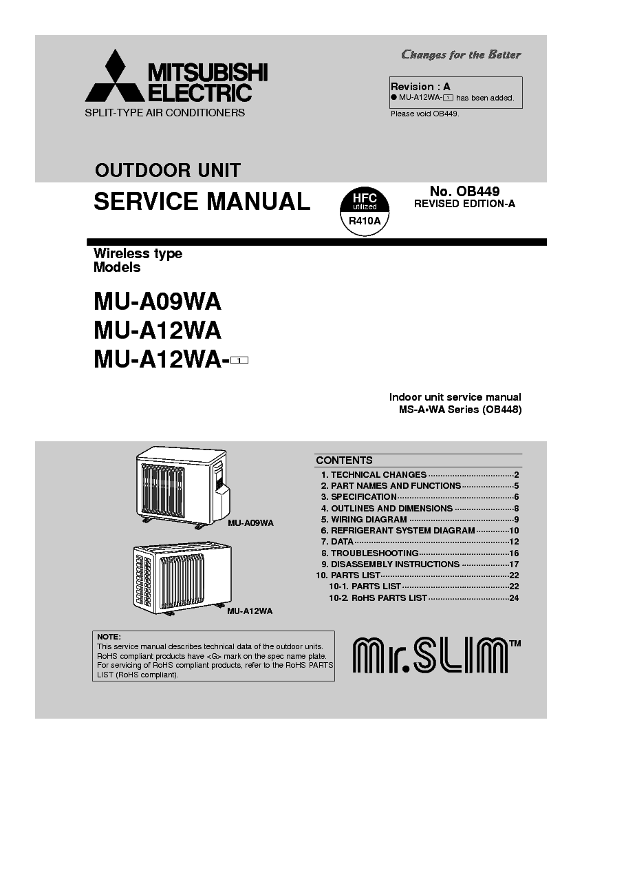 medium resolution of mitsubishi mu a09wa mu a12wa service manual download schematicsmitsubishi mu a09wa mu a12wa service manual