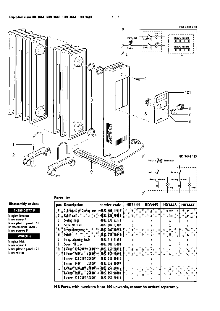 PHILIPS HD3444 Service Manual download, schematics, eeprom