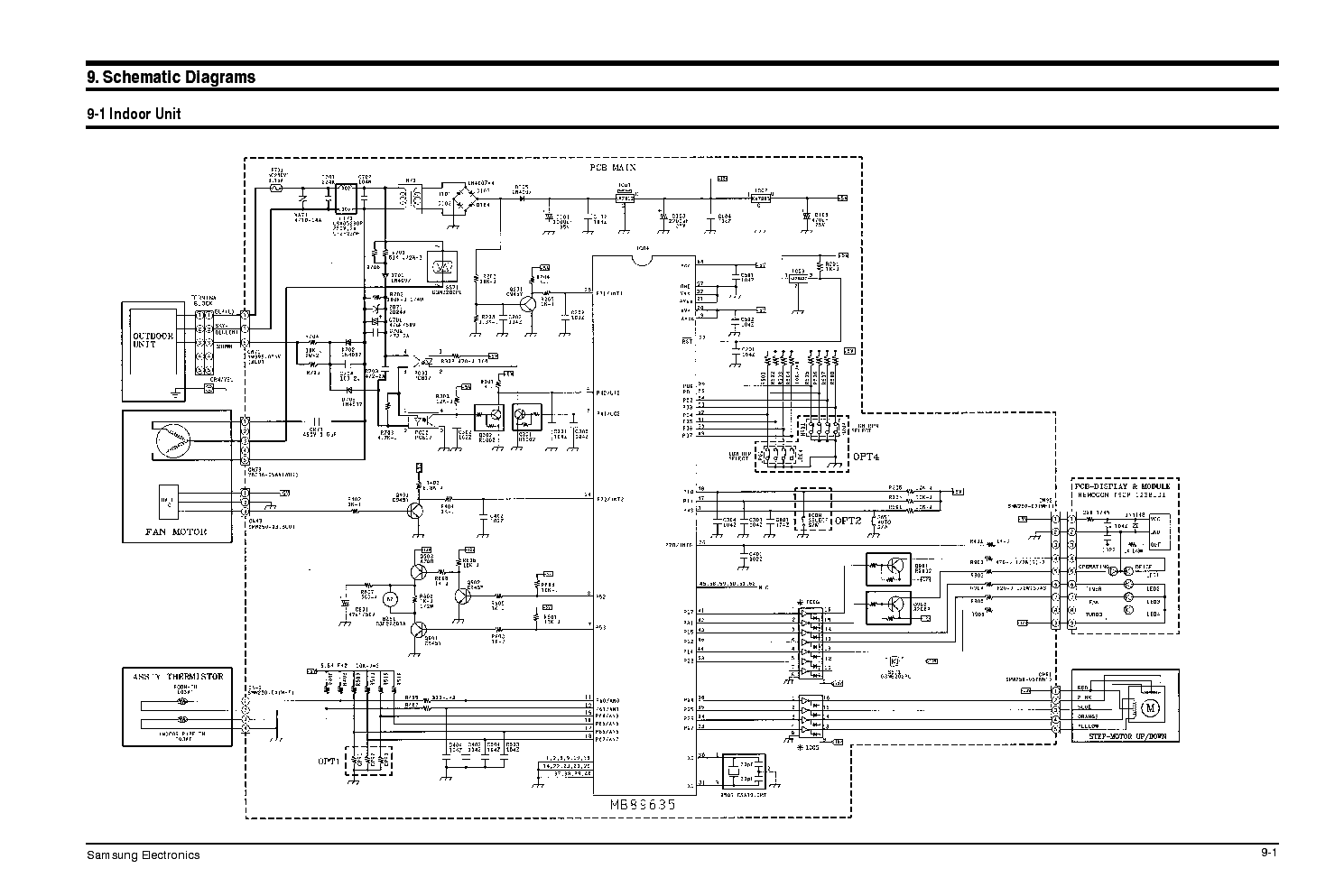 SAMSUNG AD18A 19A SCH Service Manual download, schematics