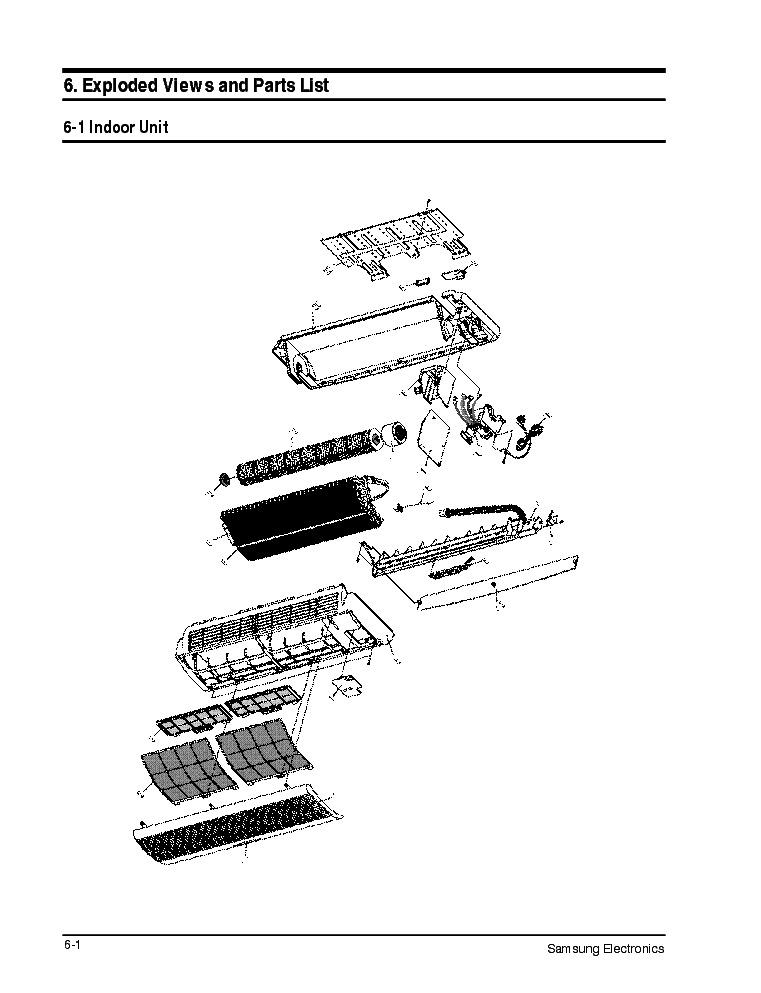SAMSUNG AS 09A1VE EXPLDED VIEW PARTS LIST Service Manual