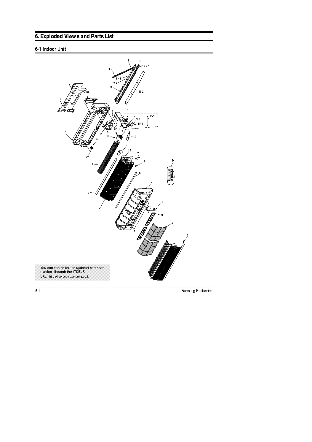 SAMSUNG SC12ZA6 EXPLODED VIEWS PARTS LIST Service Manual