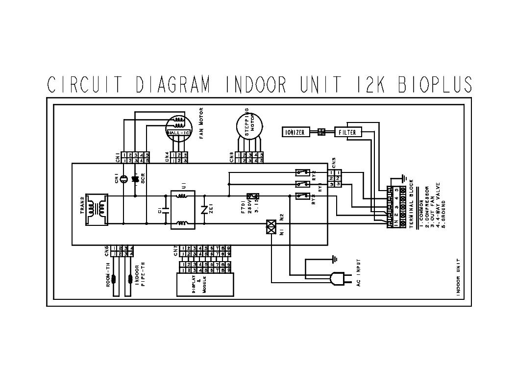 VESTEL INDOOR UNIT 12K BIOPLUS SCH Service Manual download