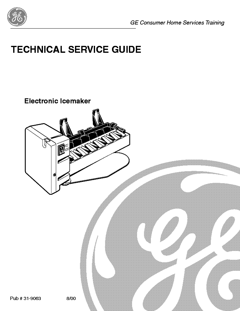 GE ELECTRONIC ICE MAKER Service Manual download