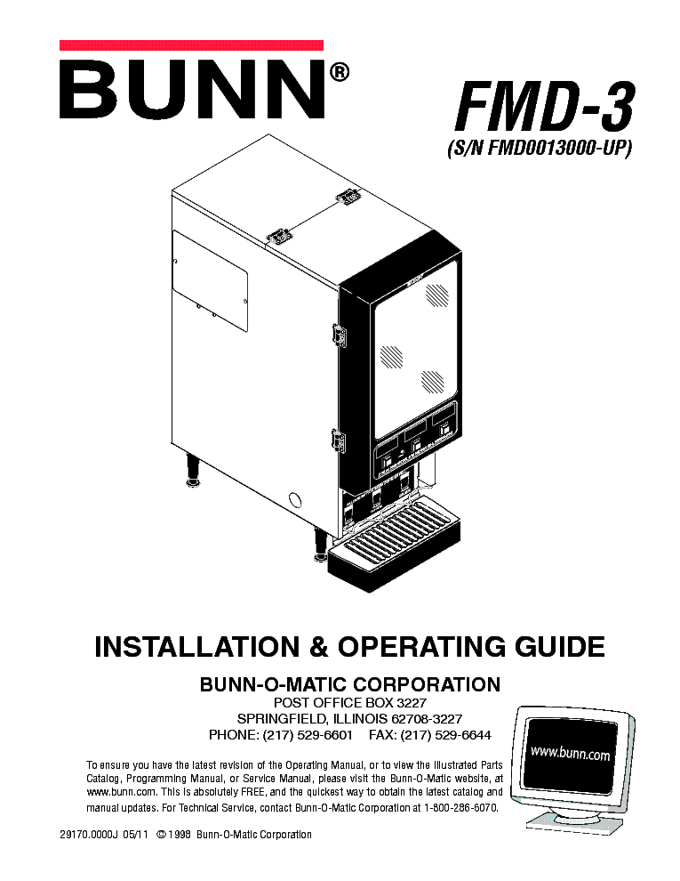 BUNN ULTRA1 ULTRA2 Service Manual download, schematics