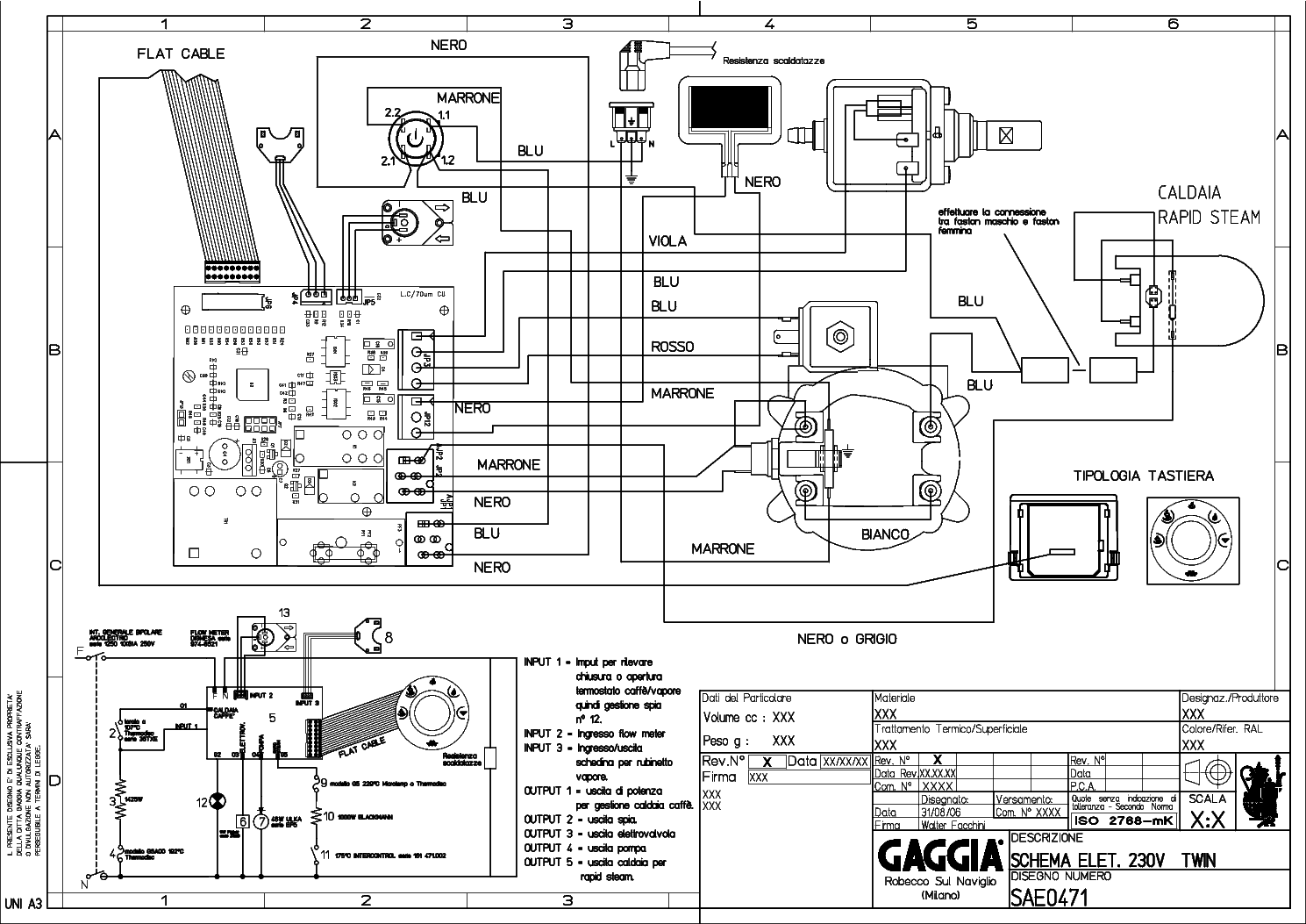 GAGGIA TITANIUM 230 Service Manual download, schematics