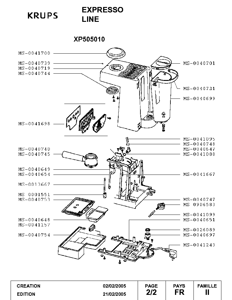 KRUPS XP7200 SERVICE MANUAL DOWNLOAD