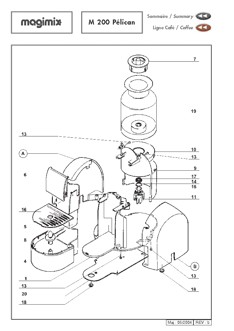 MAGIMIX L-EXPRESSO EXPLODED VIEWS Service Manual download
