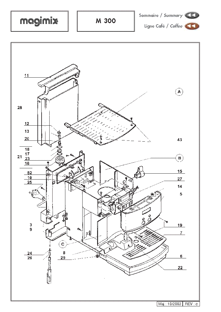 MAGIMIX M300 EXPLODED VIEWS Service Manual download