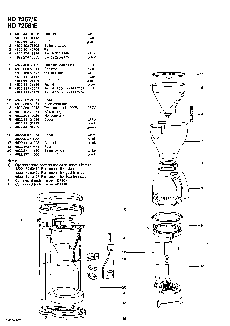 PHILIPS HD-7257 7258-E CAFE-ROMA SM Service Manual