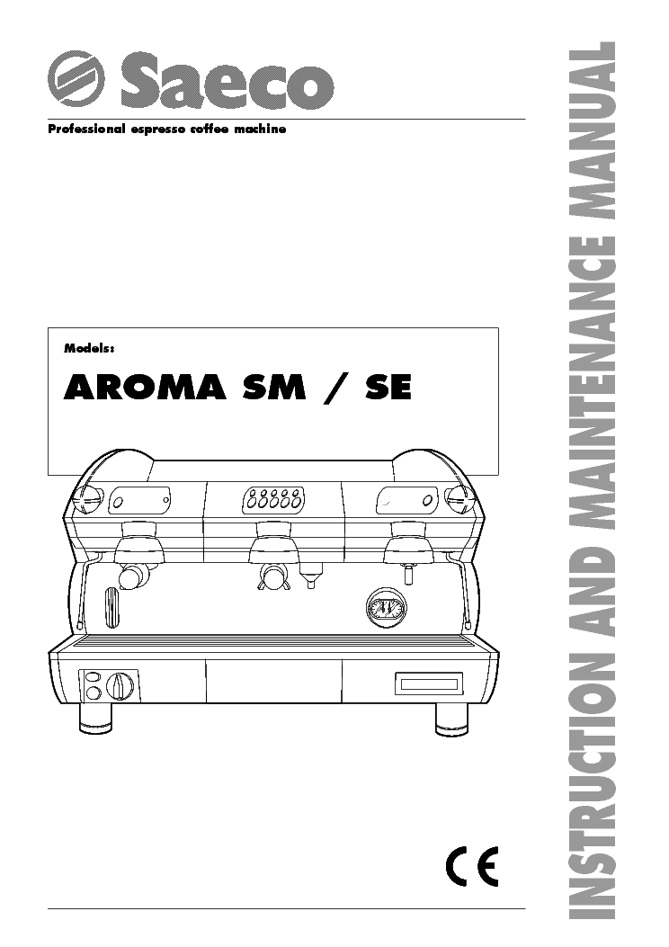 SAECO AROMA SE-200 SM Service Manual download, schematics