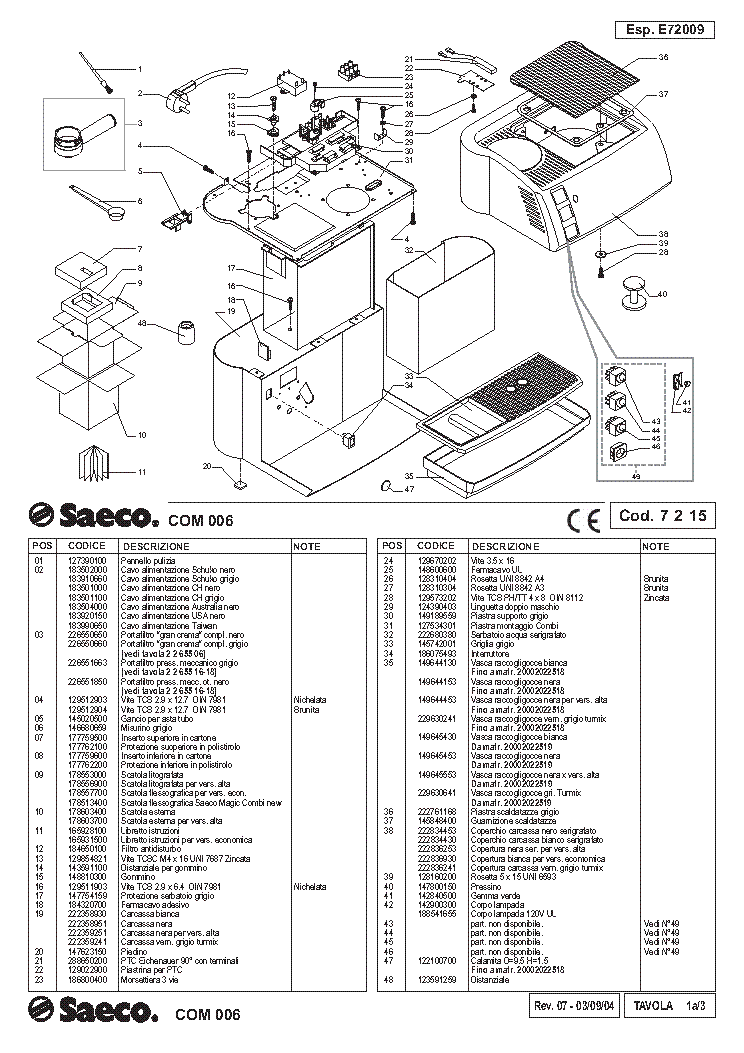 SAECO SUP 033R HD8743 HD8845 HD8747 SM Service Manual free