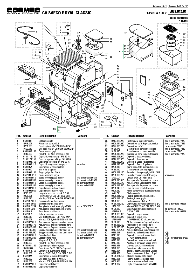 SAECO SUP 002 SCH Service Manual free download, schematics
