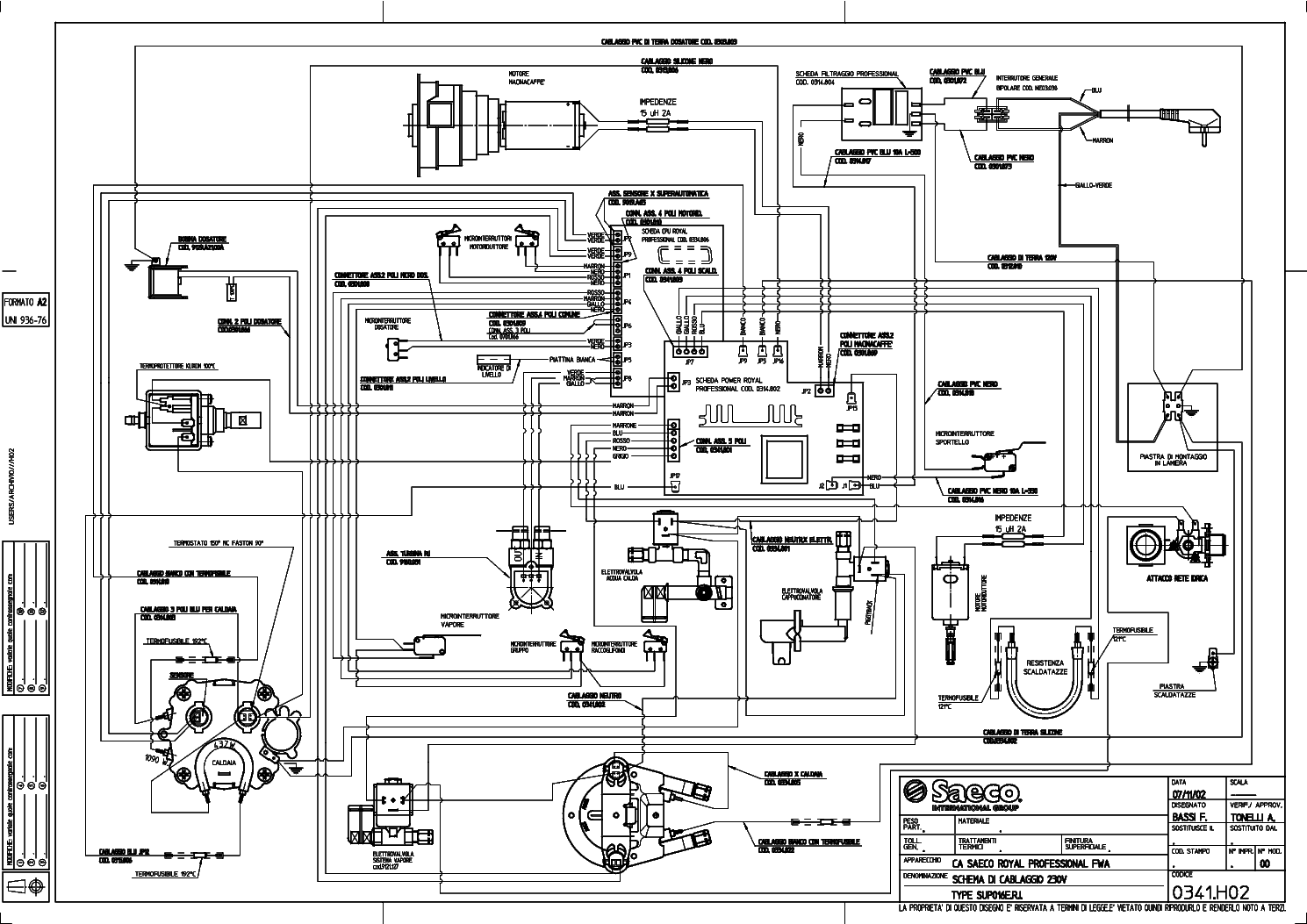 SAECO ROYAL COFFEE BAR Service Manual download, schematics
