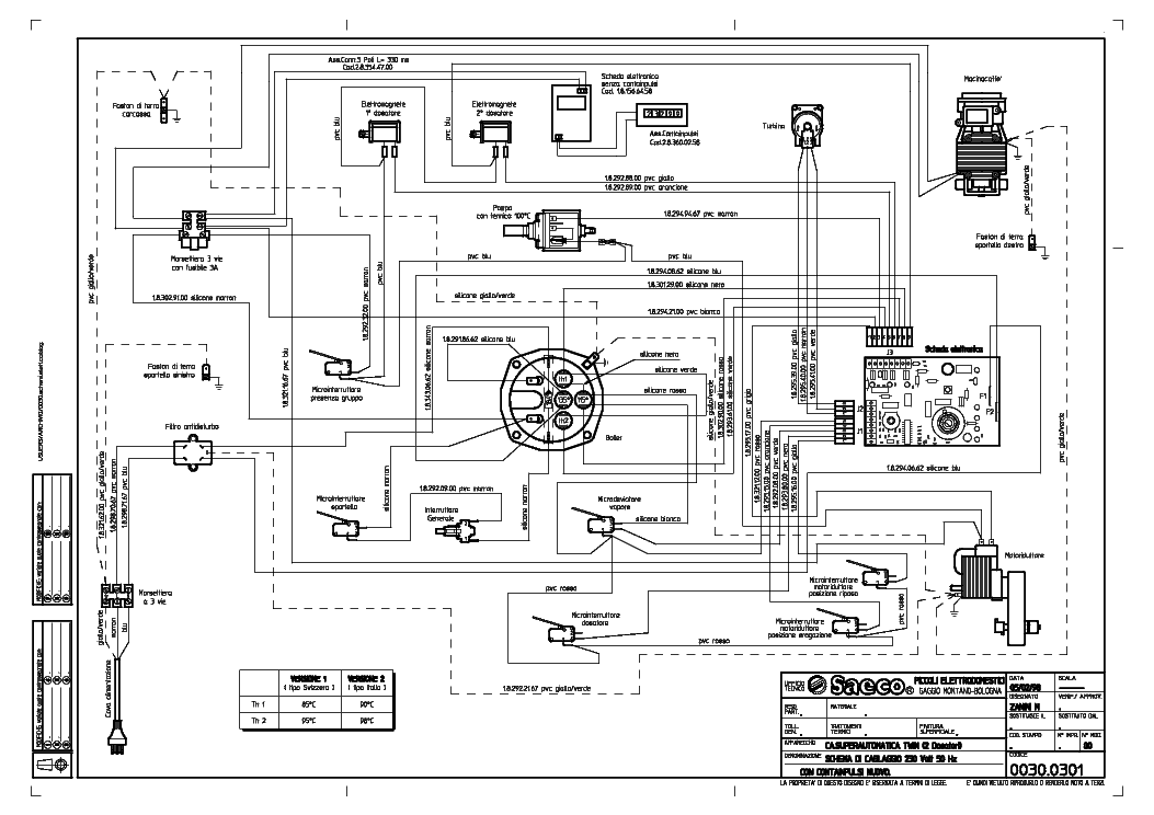 SAECO SUP 002 SCH Service Manual download, schematics