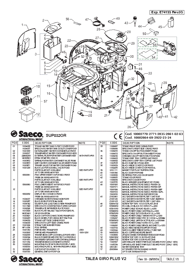 SAECO TALEA GIRO PLUS V2 SM Service Manual download