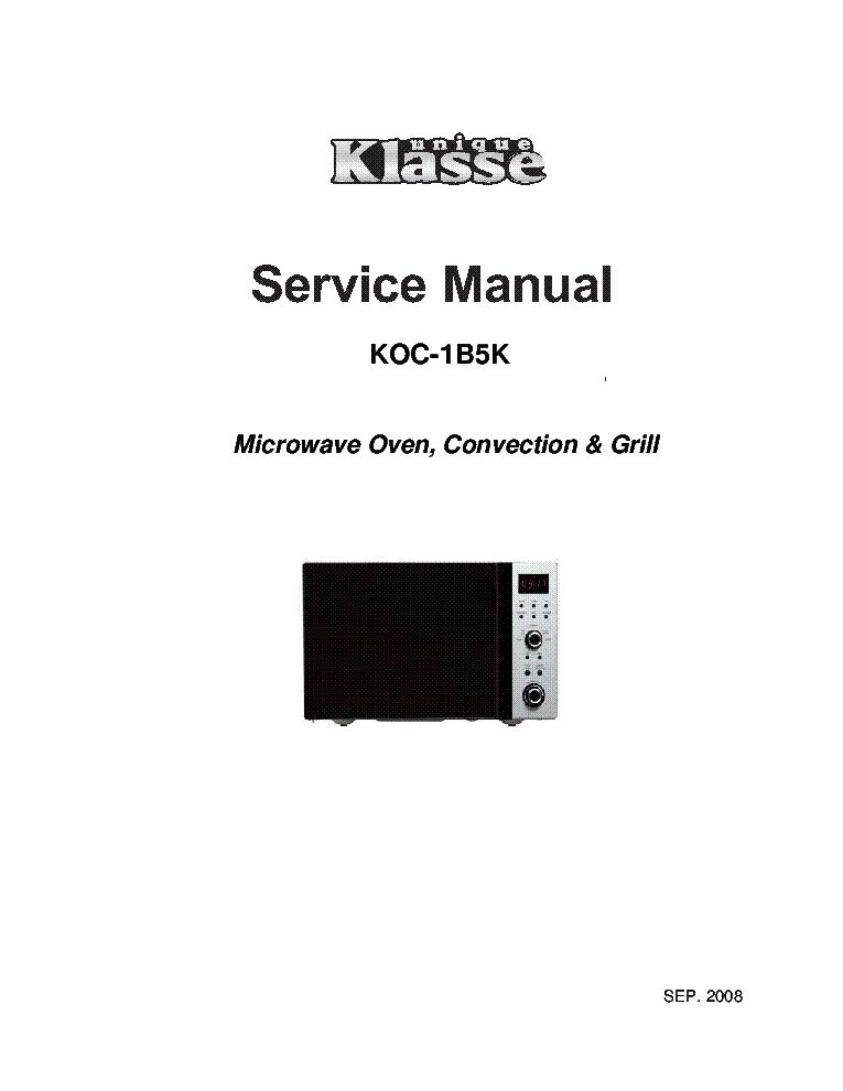 DAEWOO KOC-1B5K Service Manual download, schematics