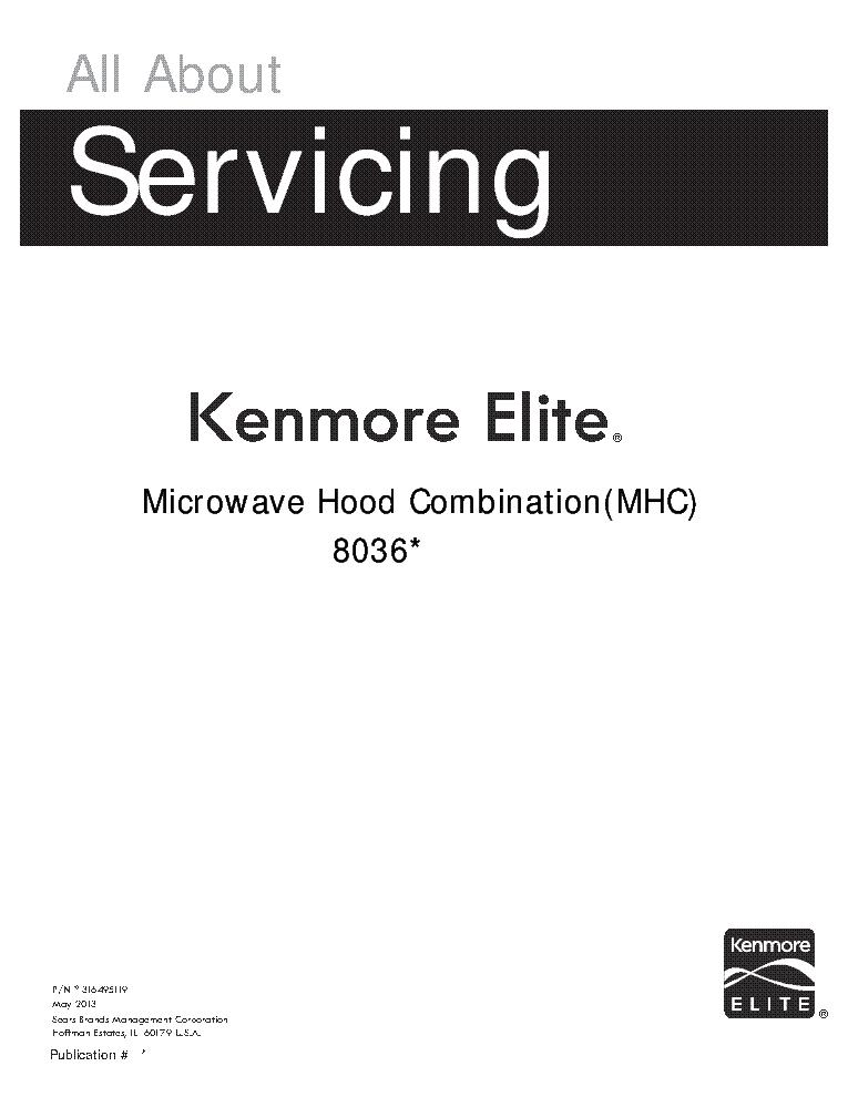 KENMORE 795.7105-2.01-3.01-4.01-6.01-9.01 REFRIGERATOR