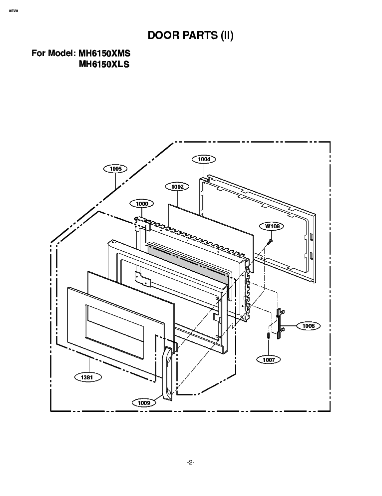 LG WD-1412RD EXPLODED VIEW Service Manual free download