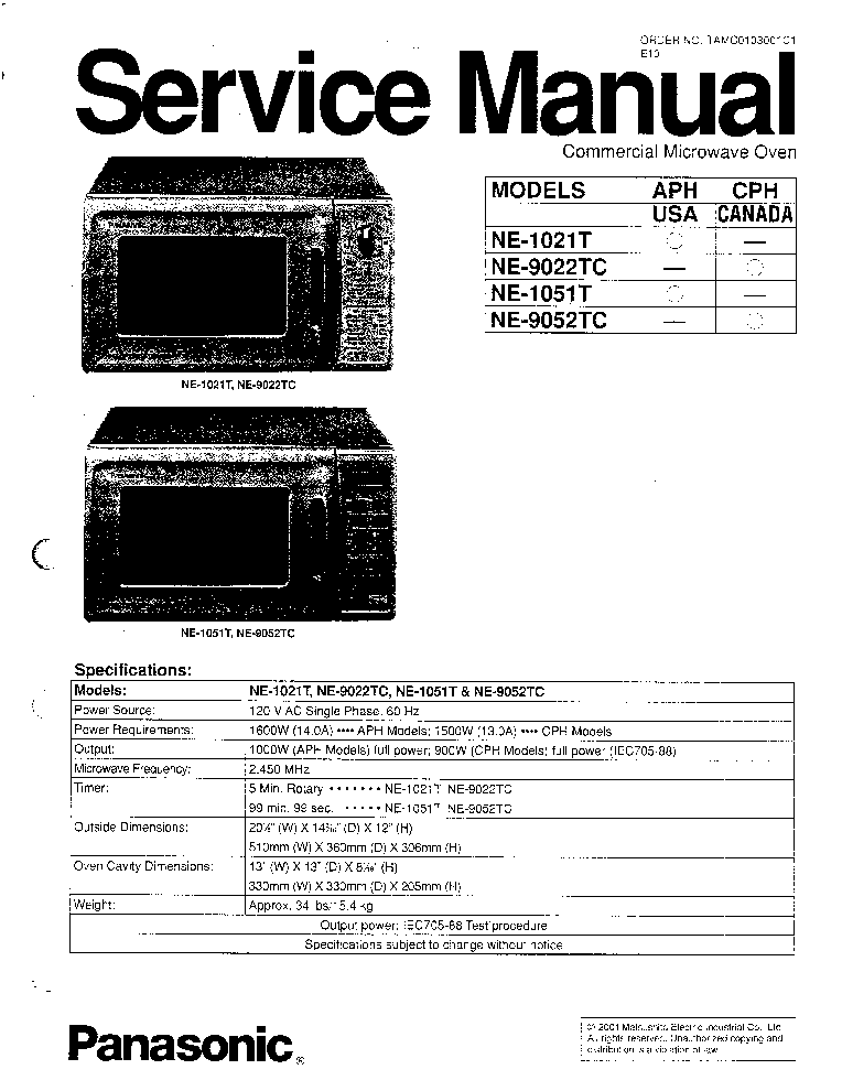 PANASONIC MC-E780 E781 E783 VACUUM Service Manual download