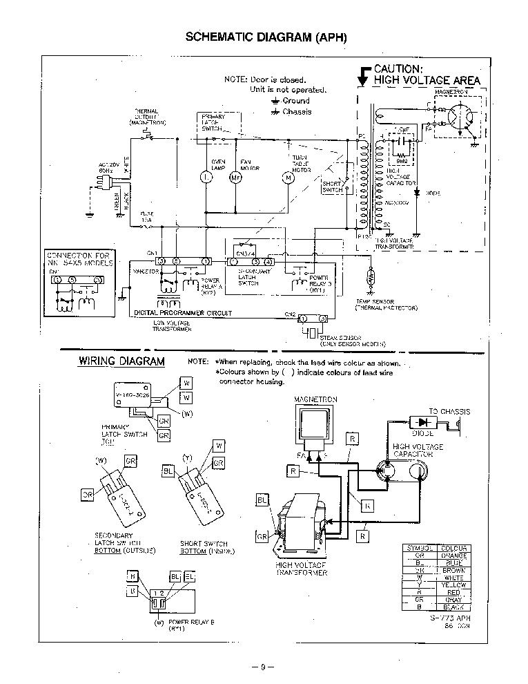 PANASONIC NN-5655A SCH Service Manual download, schematics