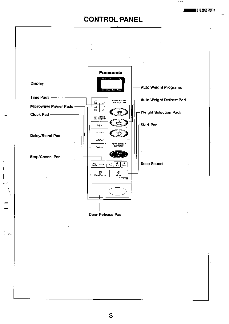 PANASONIC NN3496B Service Manual download, schematics