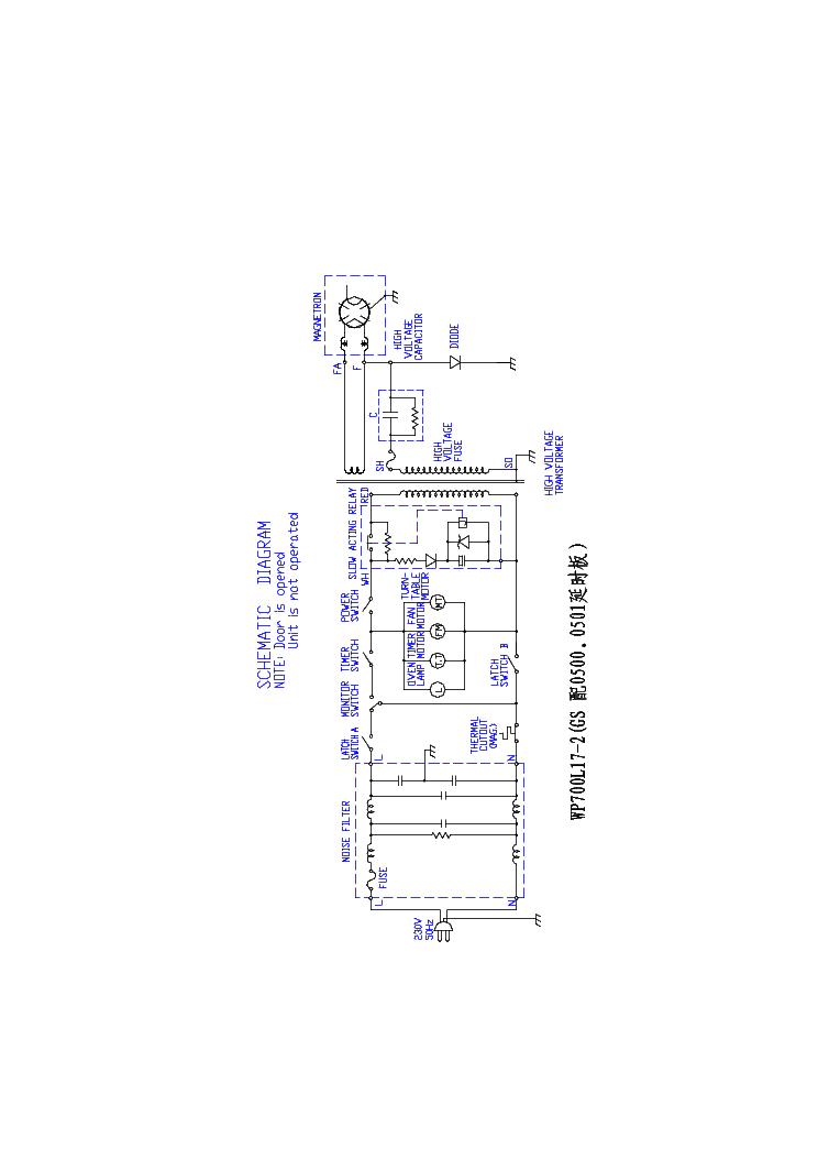 ROADSTAR MWO-1770P Service Manual download, schematics