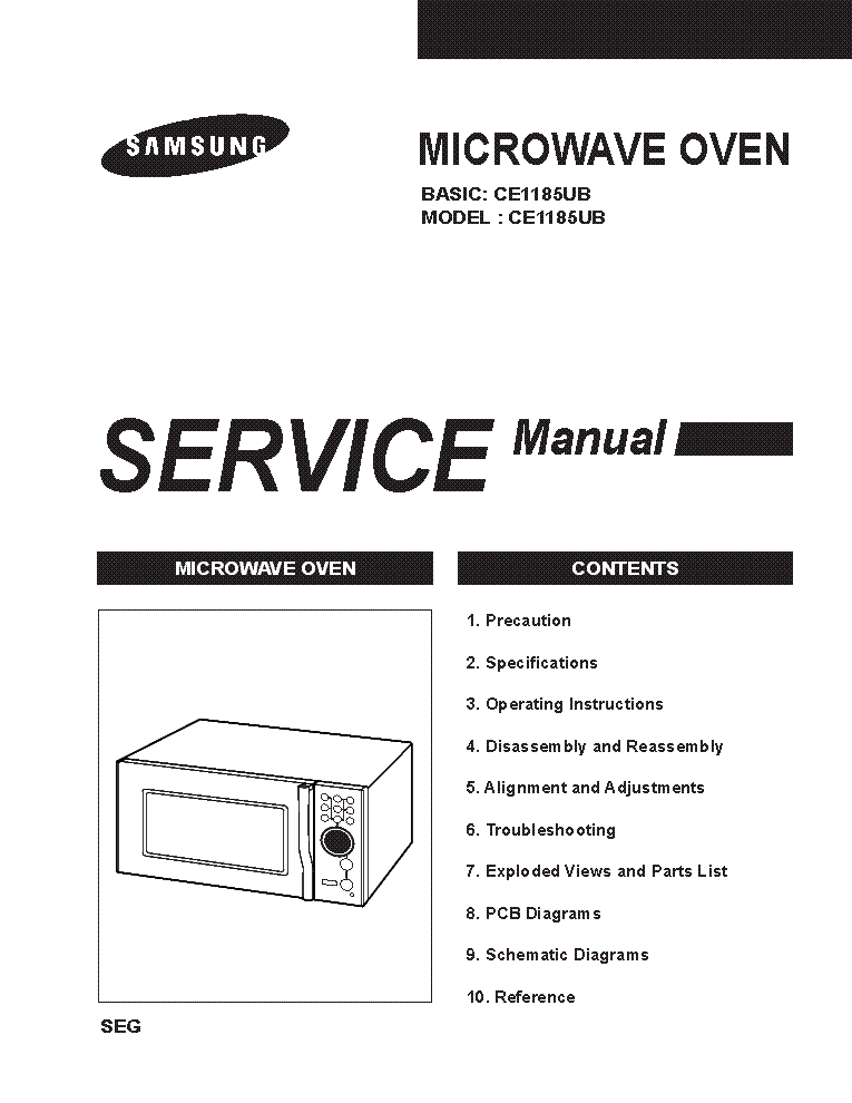 SAMSUNG CE1185UB Service Manual download, schematics