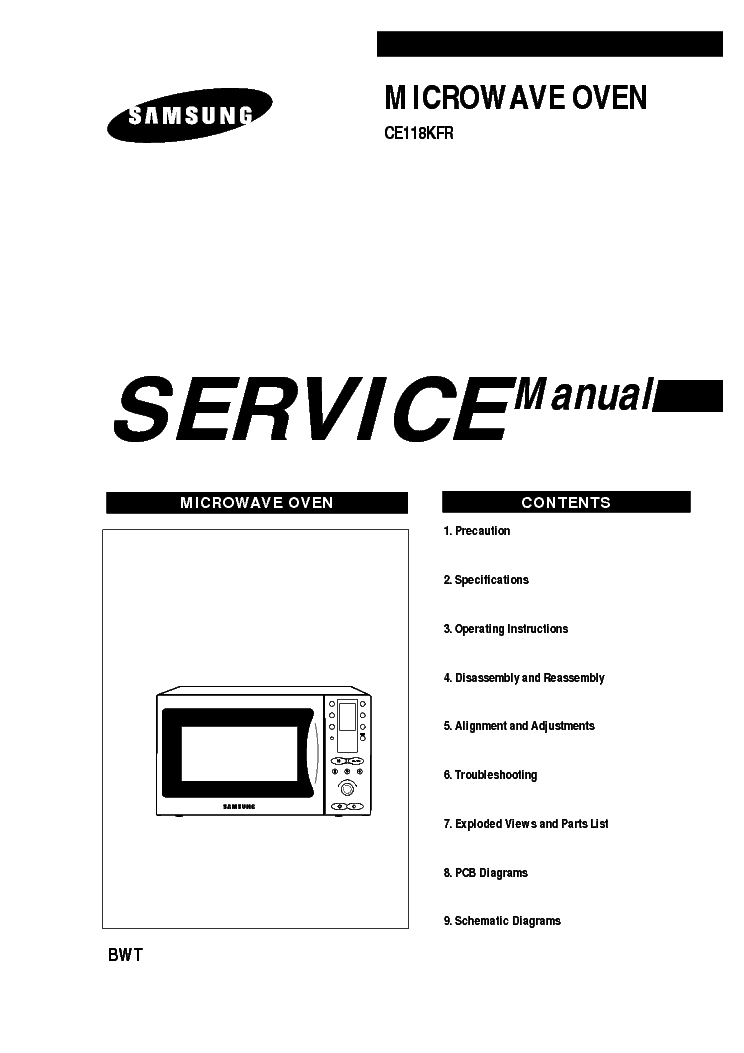 SAMSUNG CE118KFR Service Manual download, schematics