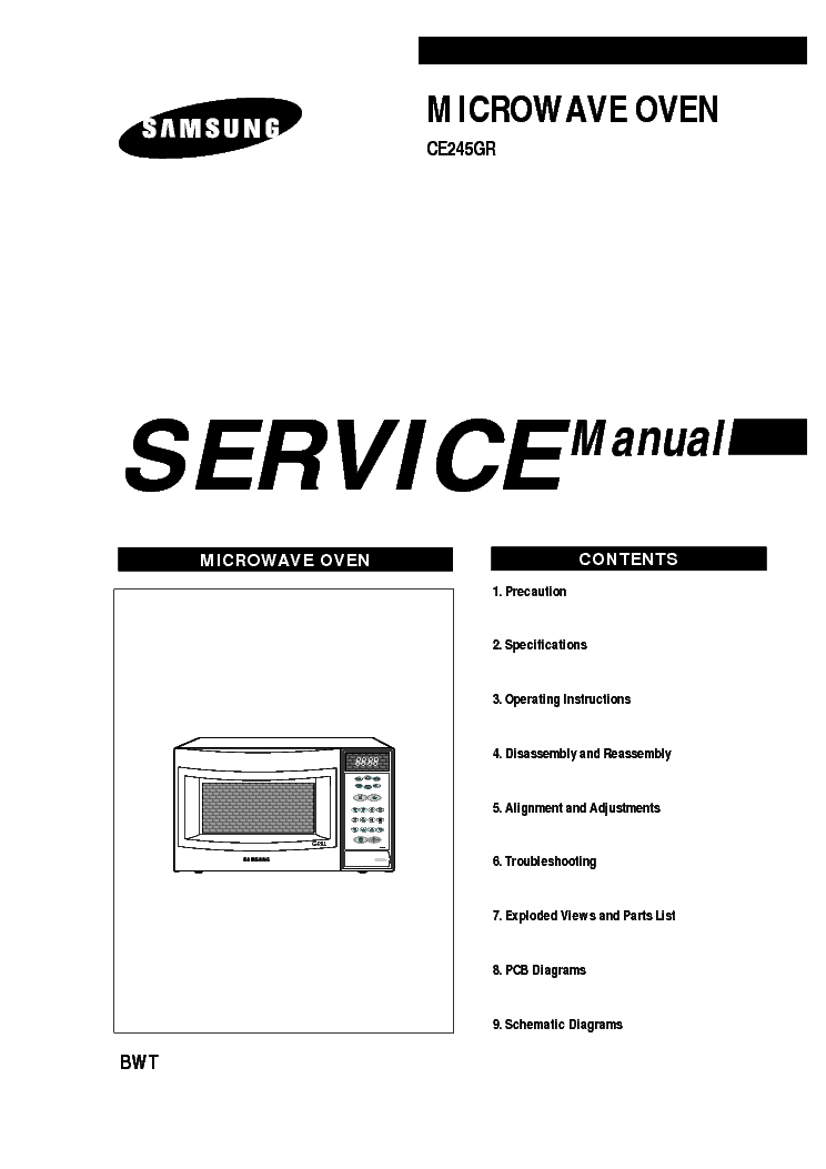 SAMSUNG M9245 Service Manual download, schematics, eeprom