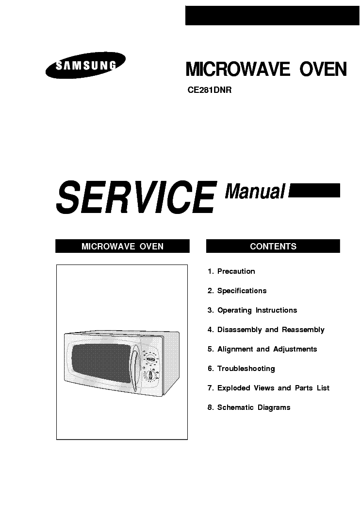 SAMSUNG CE281DNR Service Manual download, schematics