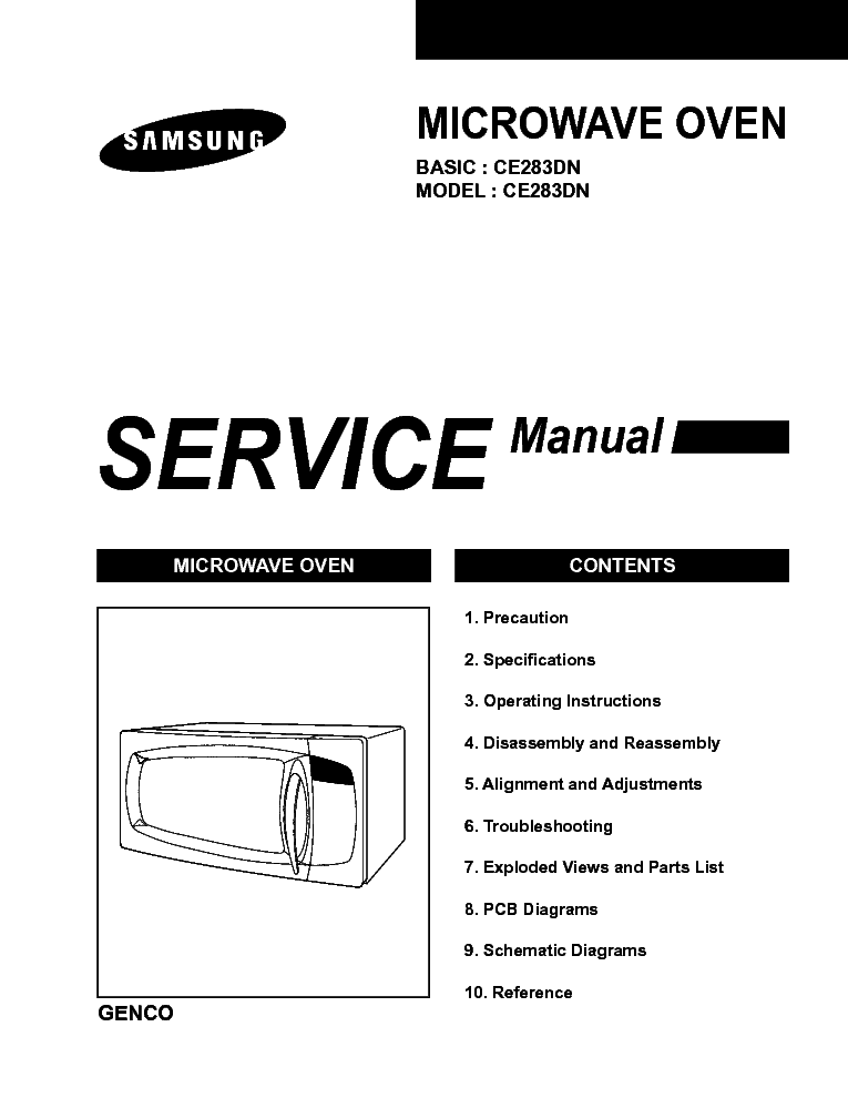 SAMSUNG CE283DN SM Service Manual download, schematics