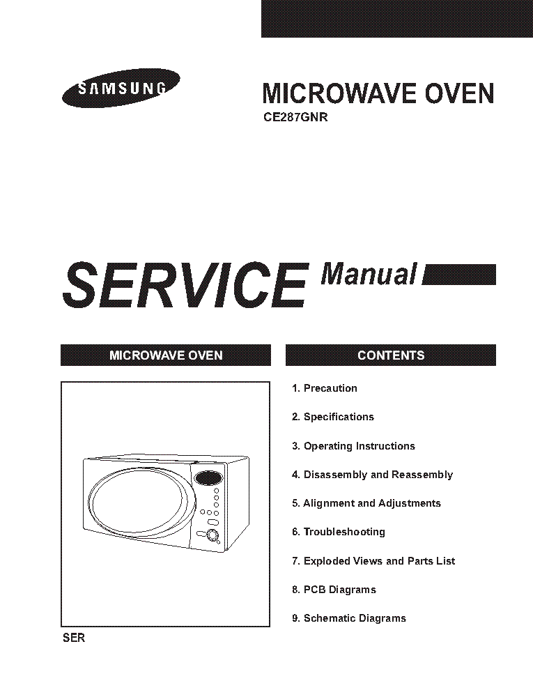 SAMSUNG CE287GNR-BWT Service Manual download, schematics