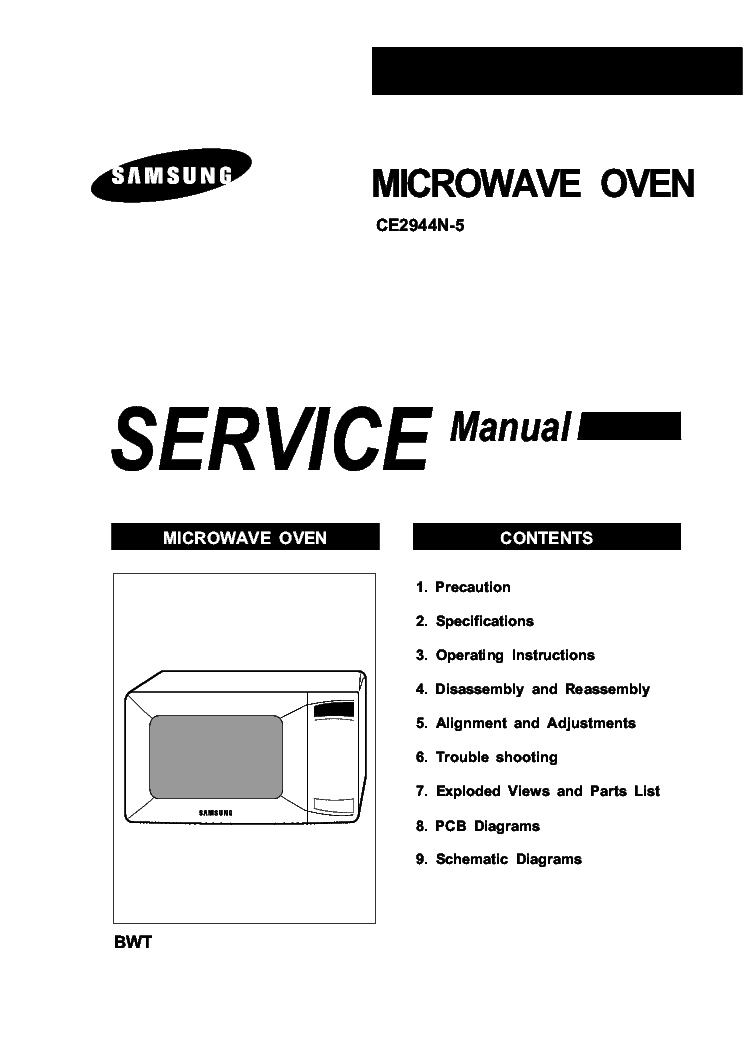 SAMSUNG CE2944N 5 SM Service Manual download, schematics