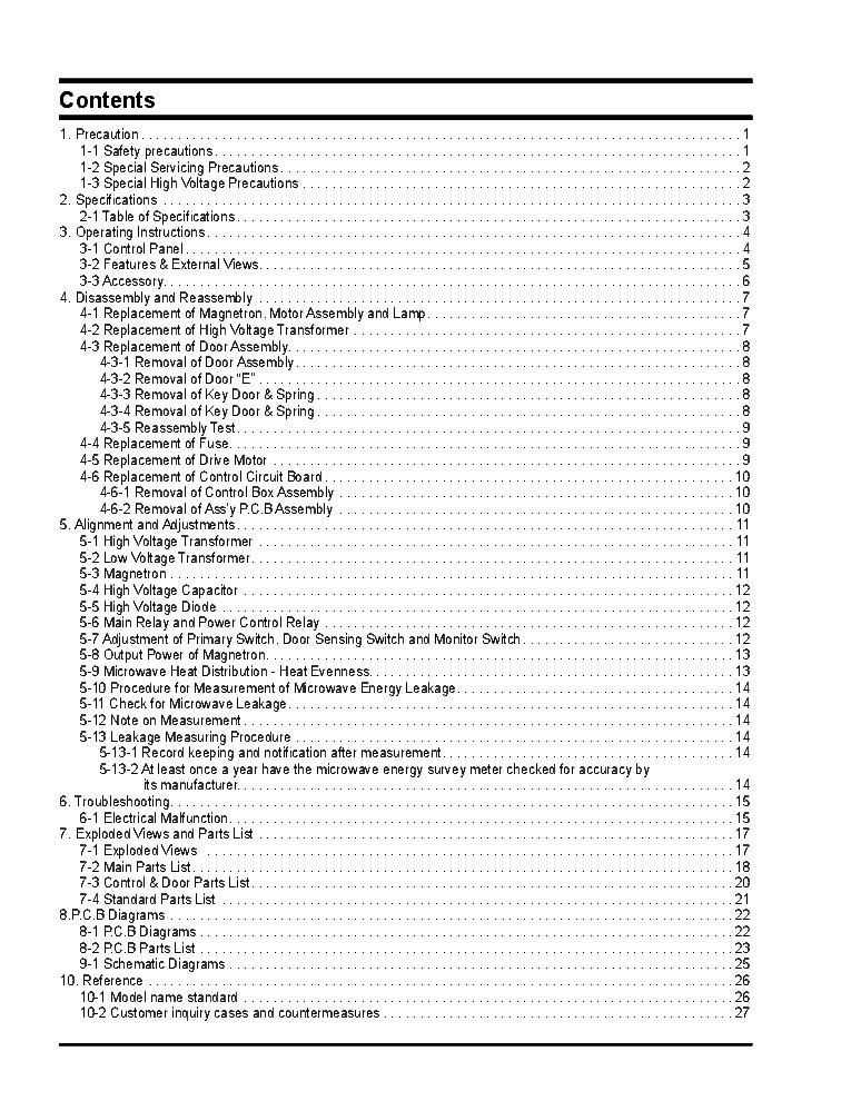 SAMSUNG CE297BNR-5-BWT Service Manual download, schematics