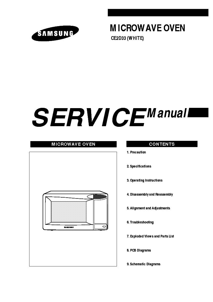 SAMSUNG CE2D33 Service Manual download, schematics, eeprom