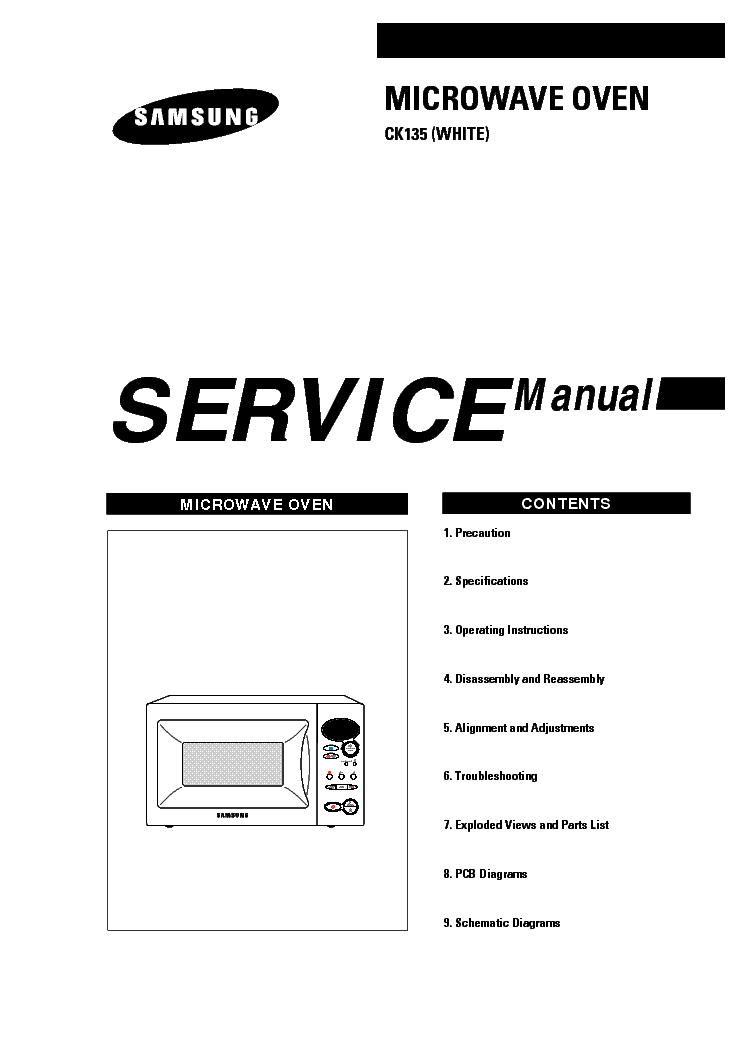 SAMSUNG CK135 Service Manual download, schematics, eeprom