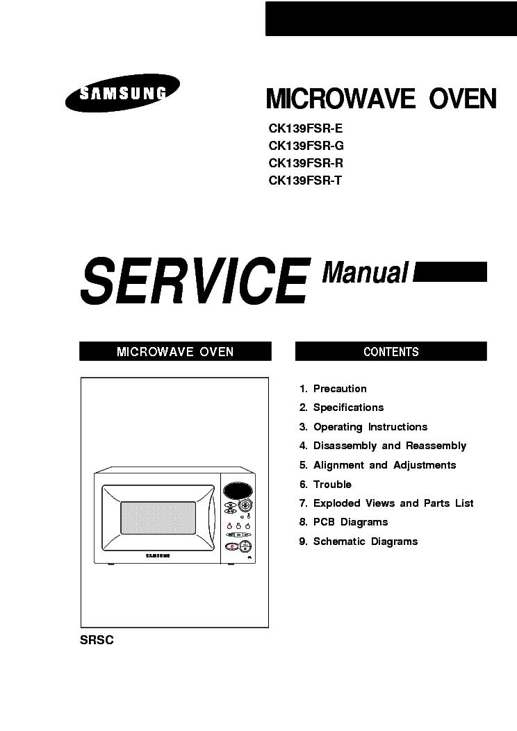 SAMSUNG CK139FSR Service Manual download, schematics