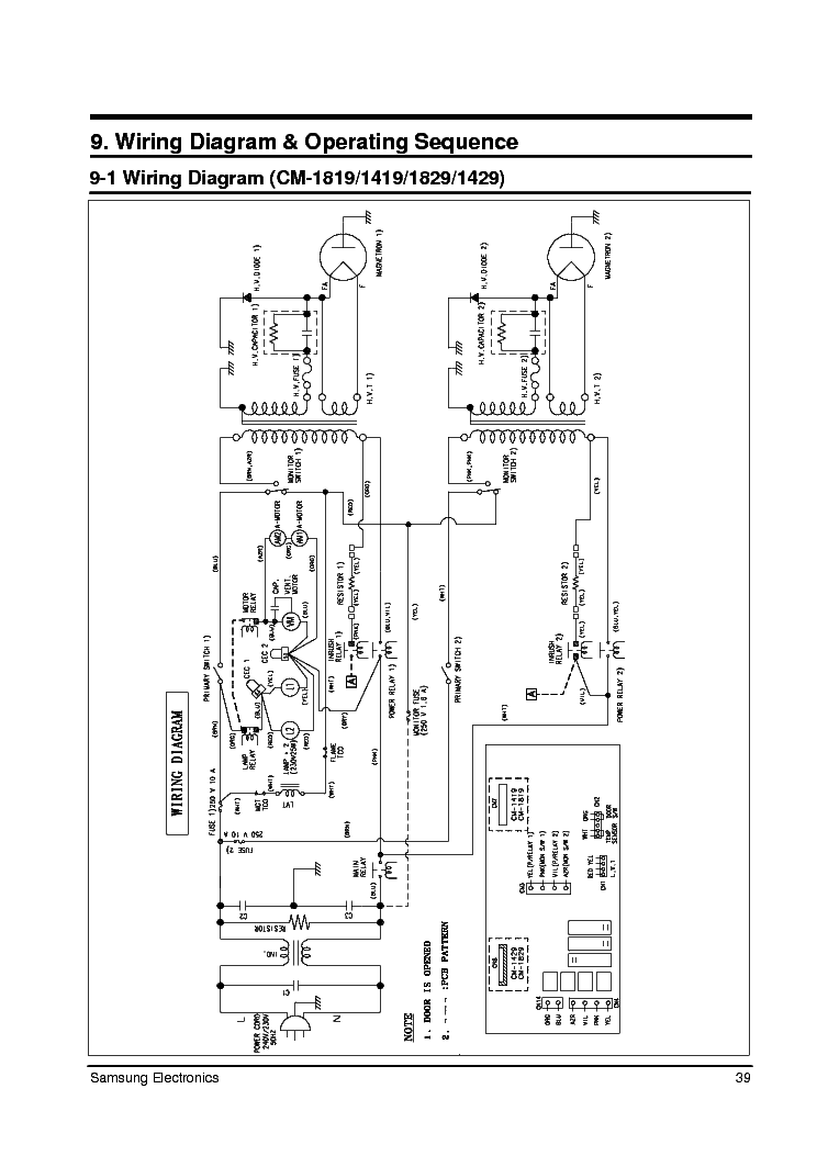 SAMSUNG CM1019 1029 Service Manual download, schematics