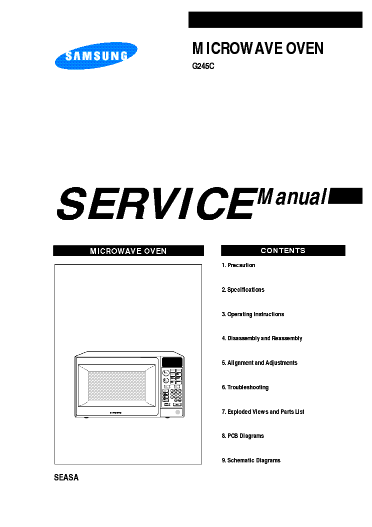 SAMSUNG G245C Service Manual download, schematics, eeprom