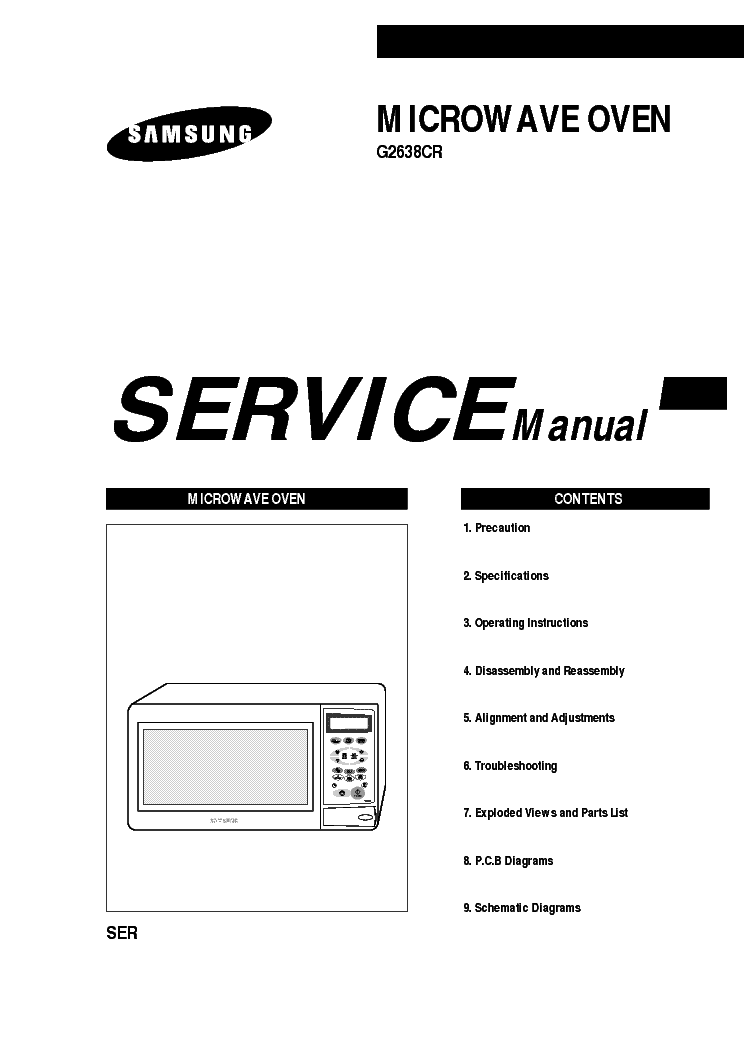 SAMSUNG G2638CR Service Manual download, schematics