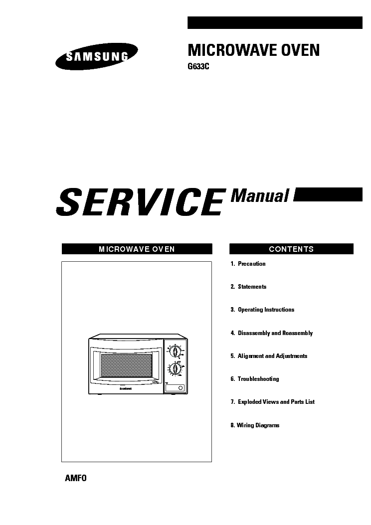 SAMSUNG G633C AM Service Manual download, schematics