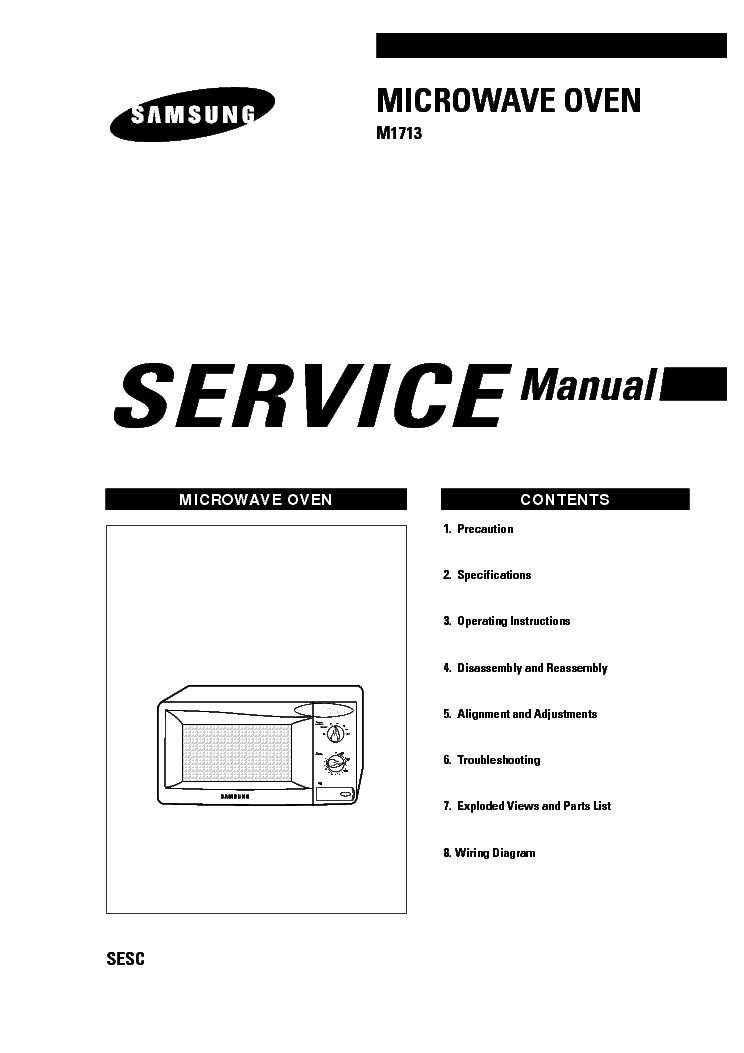 SAMSUNG M1713 XEU Service Manual download, schematics