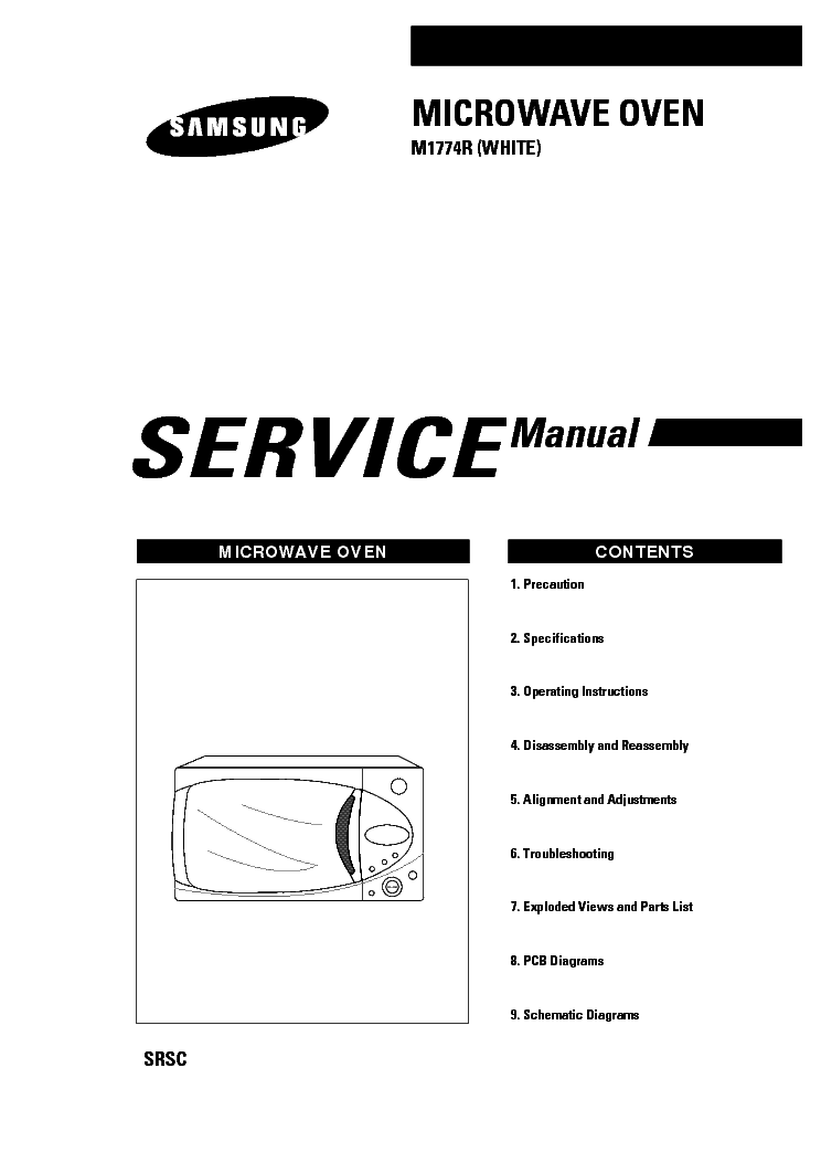 SAMSUNG M1774R SM Service Manual download, schematics