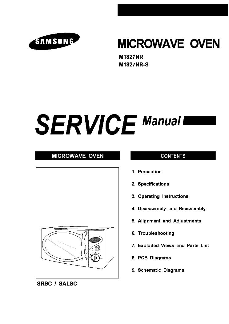 SAMSUNG M1827NR-S Service Manual download, schematics