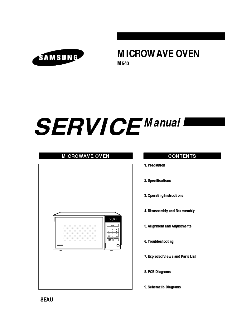 SAMSUNG M540 EEAW Service Manual download, schematics