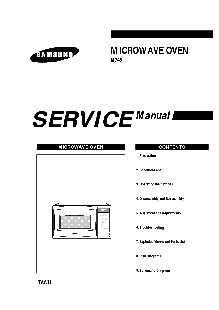 SAMSUNG M745 Service Manual download, schematics, eeprom
