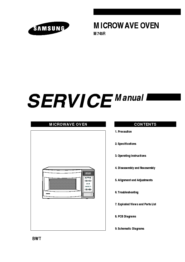 SAMSUNG M745R Service Manual download, schematics, eeprom